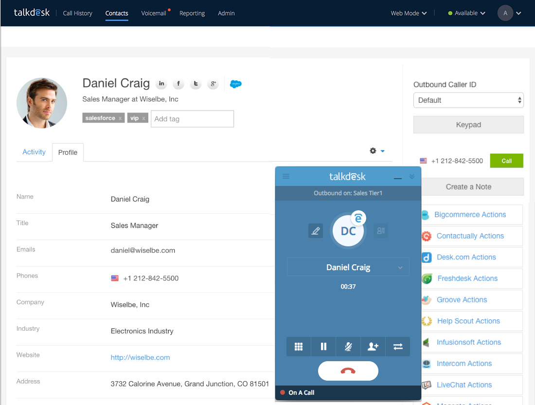 Making a Call – Talkdesk Support