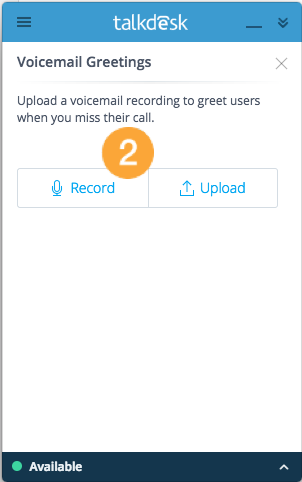 Voicemail greetings on callbar app closed beta talkdesk support voicemailgreetingsrecordg m4hsunfo