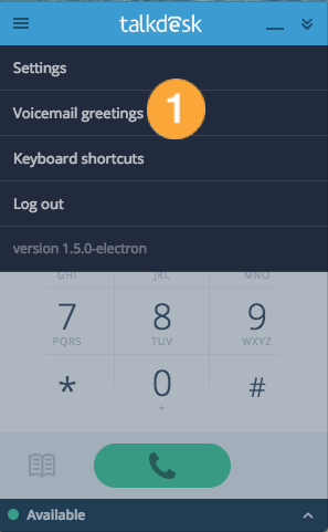 Voicemail greetings on callbar app closed beta talkdesk support voicemailgreetingselectrong m4hsunfo
