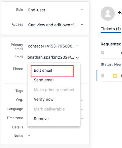 Merging Contacts in Zendesk – Talkdesk Support