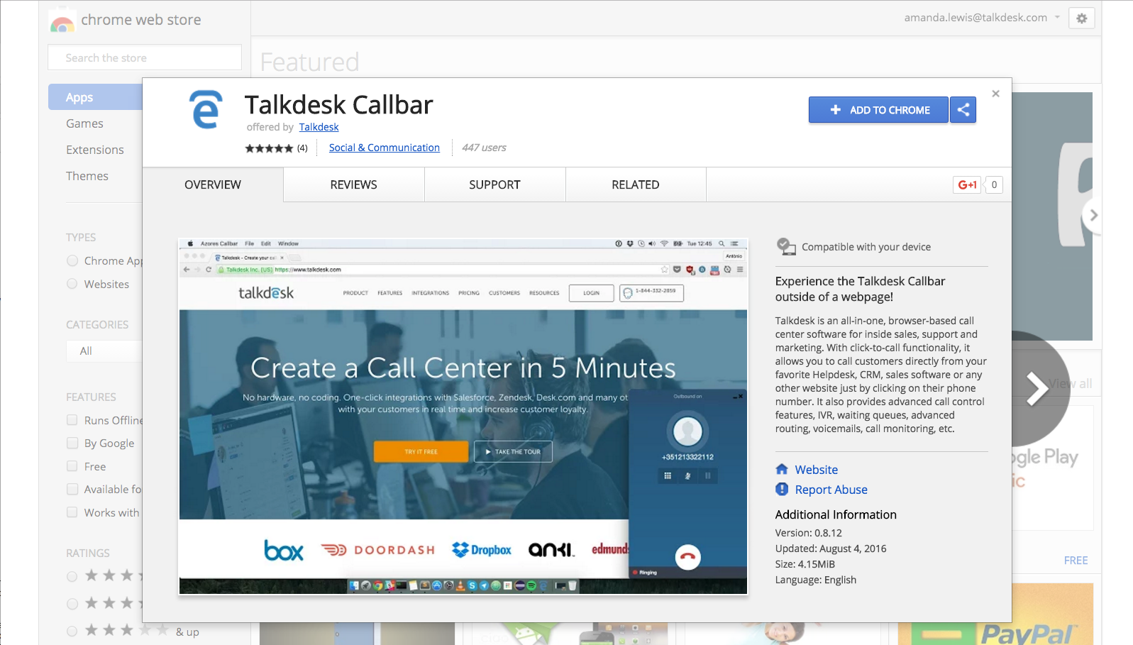 Callbar FAQ – Talkdesk Support